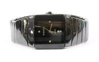 Lot 25-A gentlemen's black ceramic Rado Jubilé Diastar quartz bracelet watch