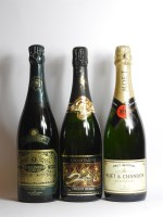 Lot 59-Assorted Champagne to include one bottle each: Bollinger