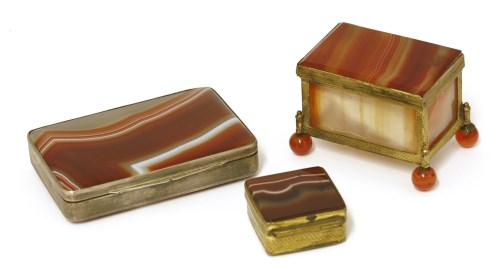 Lot 1-An Italian banded agate and silver-mounted box