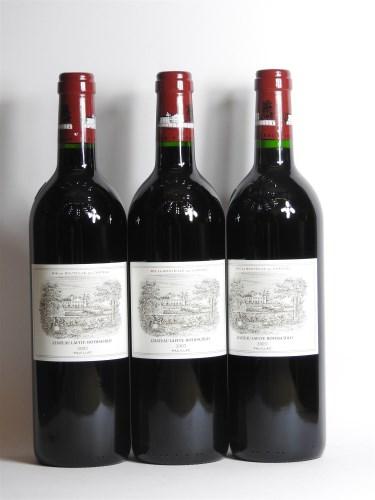 Lot 281-Château Lafite, Pauillac, 1st growth, 2003, three bottles