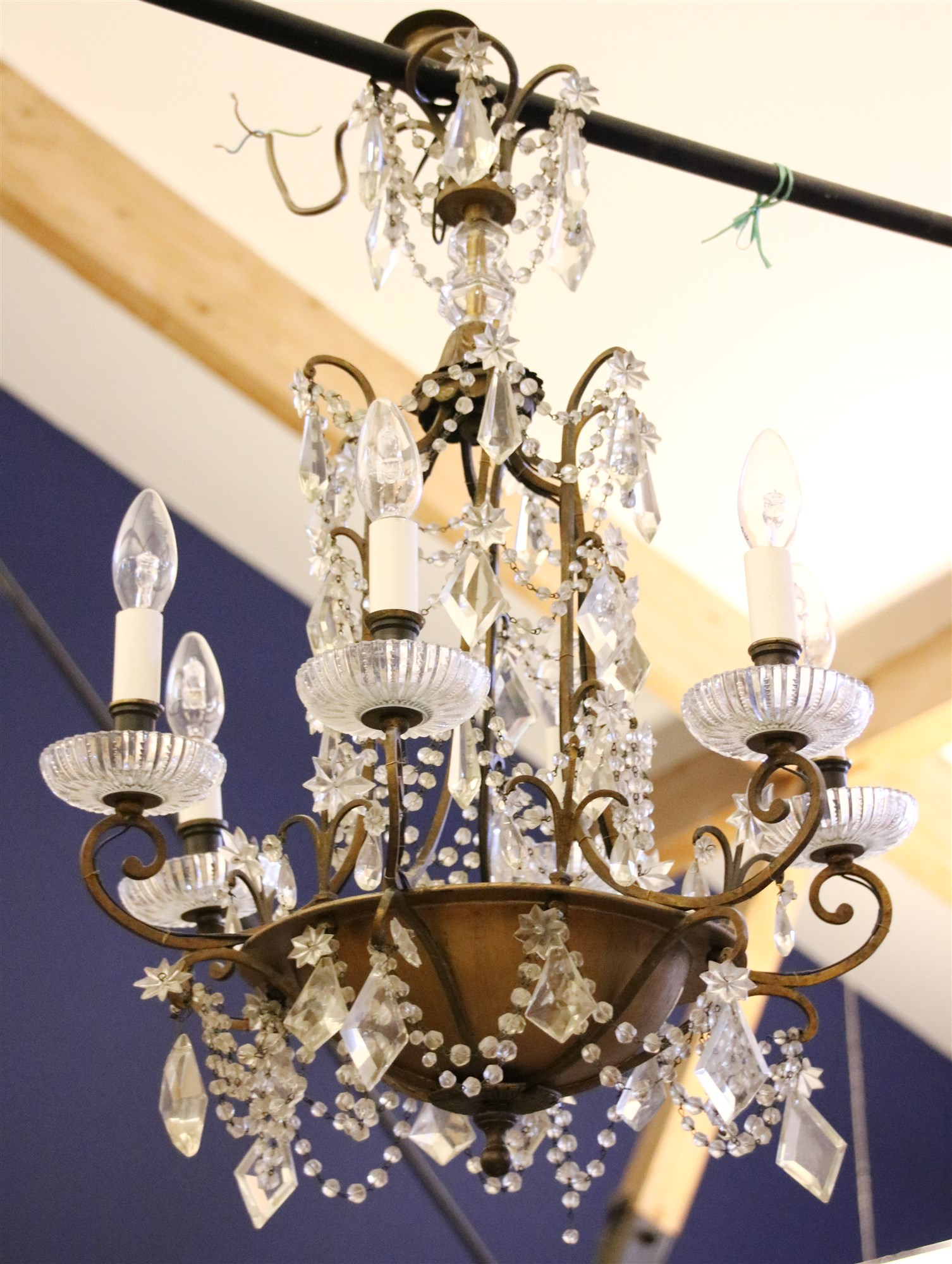 Image of: Lot 219 A Mid 20th Century Crystal Glass Chandelier