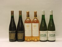 Lot 44-Assorted Sweet Wines to include: Château de la Roulerie