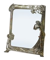 Lot 11-A WMF pewter easel back mirror