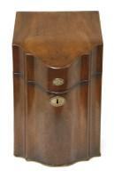 Lot 61 - A George III strung mahogany knife box