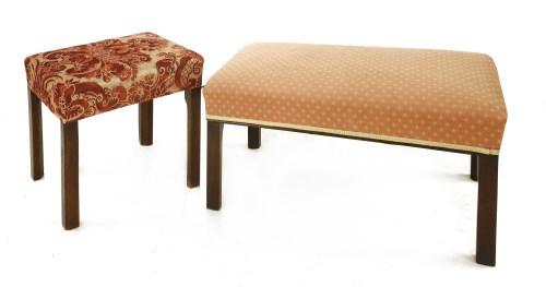 Lot 535-A George III footstool