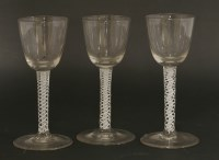 Lot 569-Three George III wine glasses