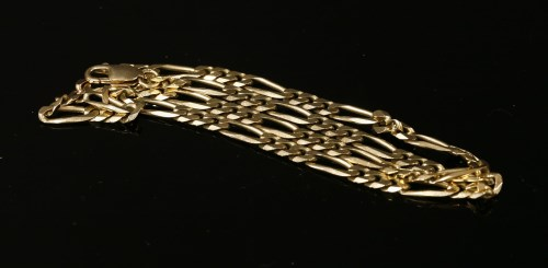 Lot 18-A gold Figaro chain necklace
