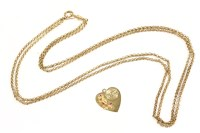 Lot 11A-An American gold heart shaped pendant