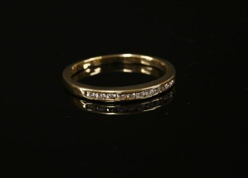 Lot 4-A 9ct gold diamond half eternity ring