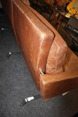 Lot 271 - A PK31/3 leather sofa