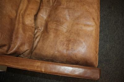 Lot 271-A PK31/3 leather sofa