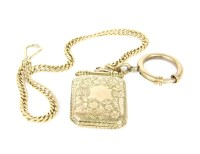 Lot 4-A gold octagonal hinged locket
