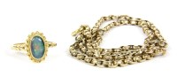 Lot 14-A single row faceted belcher chain necklace