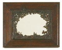 Lot 13-An oak mirror