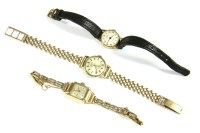 Lot 16-A ladies 9ct gold Moni mechanical  bracelet watch