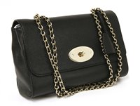 Lot 760-A Mulberry Lily Glossy goats leather black shoulder bag
