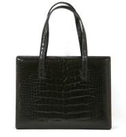 Lot 1036-A Loewe black crocodile-skin handbag