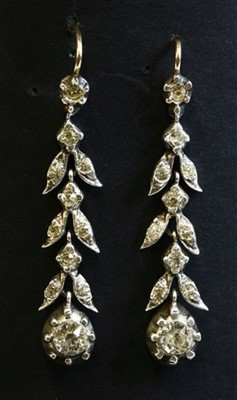 Lot 24-A pair of Georgian paste drop earrings