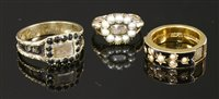 Lot 7-A George IV gold memorial ring