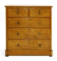 Lot 1-An ash chest of drawers