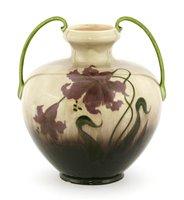 Lot 6-An Art Nouveau twin handled vase
