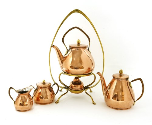 Lot 6-A Carl Deffner copper kettle on stand