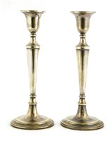 Lot 38-A pair of silver candlesticks