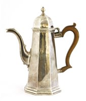 Lot 20-A George l Britannia standard silver coffee pot