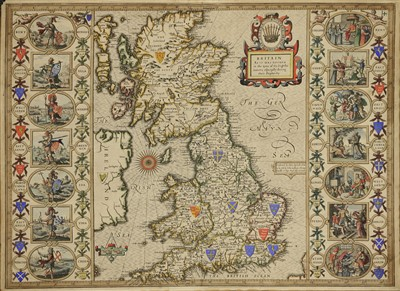 Lot 38-John Speede 'Britain as it was divided in the tyme of the Enghthe Saxons