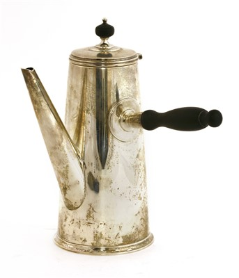 Lot 11-An American silver coffee pot
