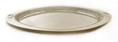 Lot 7-An oval silver tray