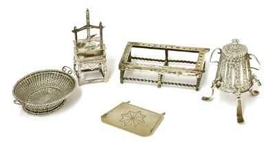 Lot 42-A group of Dutch silver miniatures