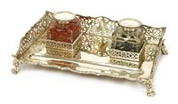 Lot 50-A Victorian silver inkstand