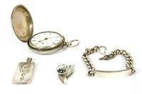 Lot 10-A sterling silver Hunter pocket watch