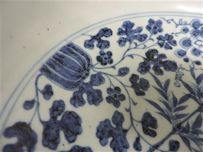 Lot 22-A large Chinese blue and white bowl