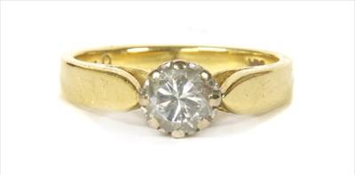 Lot 20-An 18ct gold single stone diamond ring