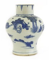 Lot 36-A Chinese blue and white vase