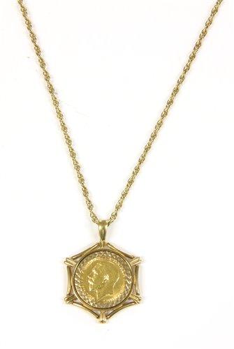 Lot 4-Half sovereign pendant