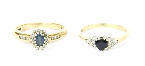 Lot 11-Sapphire and diamond cluster ring (2)
