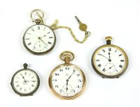 Lot 5-A silver pear case pocket watch