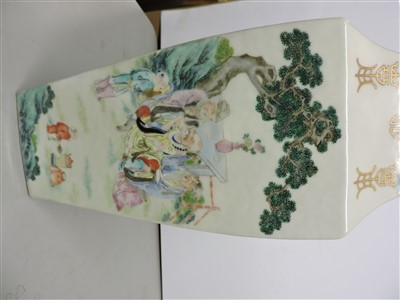 Lot 22-A Chinese famille rose vase