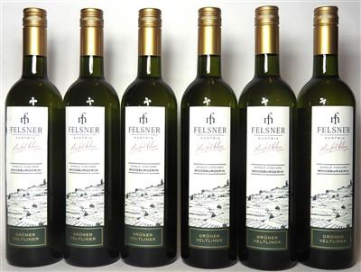 Lot 11-Felsner, Grüner Veltliner, Moosburgerin, 2015, six bottles (boxed)