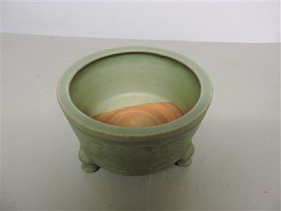 Lot 24-A Chinese Longquan celadon censer