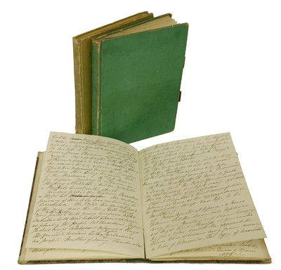 Lot 253-TRAVEL JOURNALS: 1- Miss Ann Lloyd (later Lady Cullum): Grand Tour with her Aunt- 1830-31.