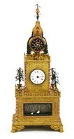 Lot 337 - A Chinese gilt bronze musical table clock