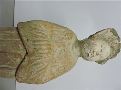 Lot 14-A large Chinese pottery figure