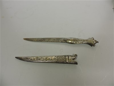 Lot 1-An Indo-Persian silver dagger