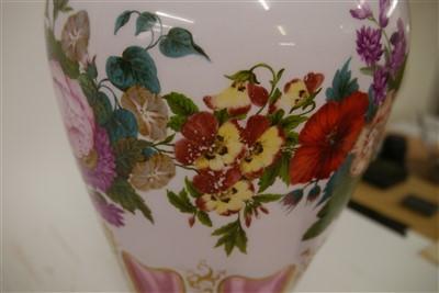 Lot 145 - A large Bohemian glass vase