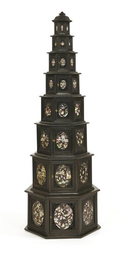 Lot 10-A Vietnamese wood pagoda