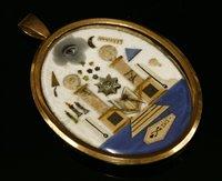 Lot 3-A Georgian gilt metal masonic pendant